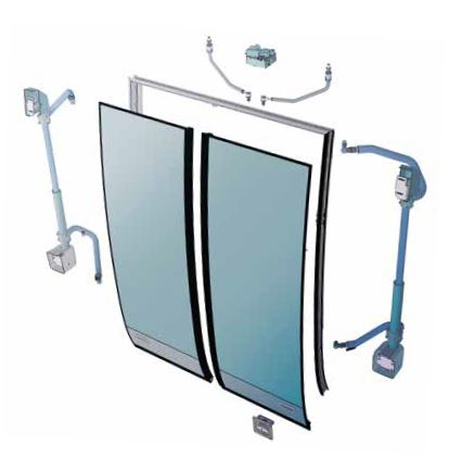 AST-E Electric outward swinging doors