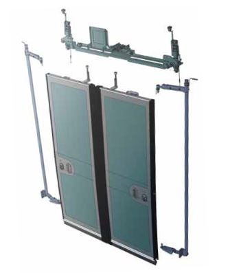 Electric inward swinging doors with CADS®, IST-CADS®